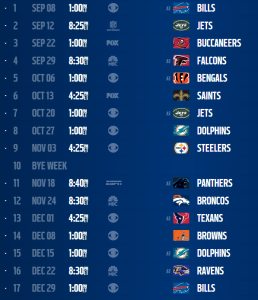 New England Patriots 2013 Schedule