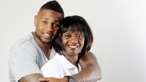 Stevan Ridley and his mama