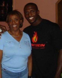Devin McCourty with his mom