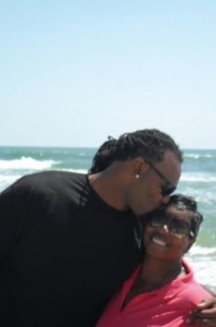 Brandon Spikes with his mom