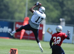 Aaron Dobson going up for a catch Photo by David Silverman