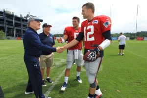 Tom Brady and Tim Tebow meeting Robert Duvall  Photo by David Silverman