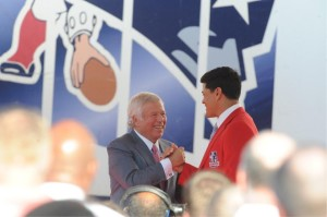 Kraft and Bruschi Photo by Keith Nordstrom