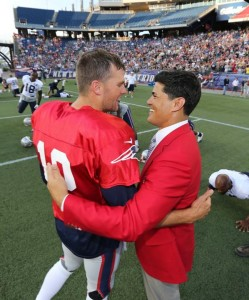 Tom Brady with Tedy Bruschi  Photo by David Silverman