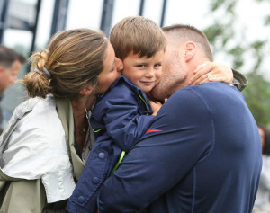 Giselle, Ben, and Tom Brady Photo by John Wilcox.
