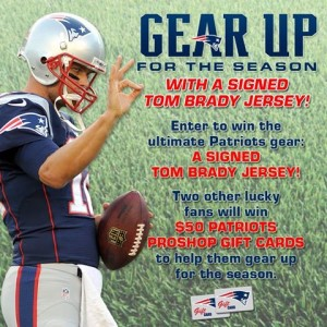 Tom Brady contest  Photo from New England Patriots Facebook Page