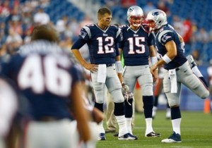 Tom Brady, Ryan Mallett, and Tim Tebow Photo from Getty Images(Jared Wickerham)