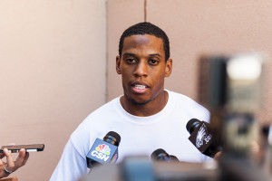 Eagles CB Williams talks to the media on Jun 4, 2013 Photo by Howard Smith-USA TODAY Sports