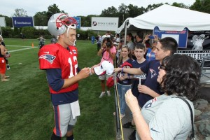 Tom Brady with Fans Photo by David Silverman