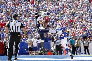 WR Julian Edelman TD catch vs Bills Photo By Kevin Hoffman