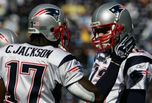 Chad Jackson and Tom Brady Photo by: Harry How/Getty Images