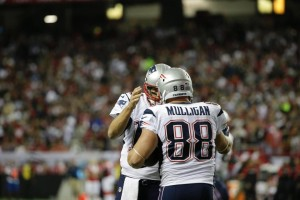 Brady and Mulligan celebrate the TD Photo by: AP