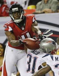 Aqib Talib covering Julio Jones Photo by: Associated Press