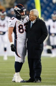Wes Welker and Robert Kraft Photo By: Elise Amendola