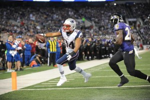 Shane Vereen TD Reception  Photo By: Keith Nordstrom