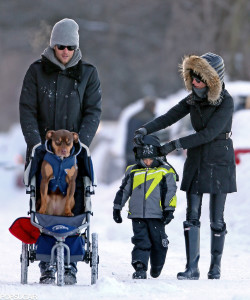 Gisele-Bündchen-Tom-Brady-took-walk-snowy-Boston-son-Benjamin-dog-Lua