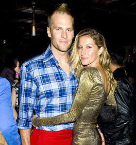 Tom Brady with wife Gisele Bundchen, debuts his new hairstyle Saturday Night. Photo By: JUSTIN CAMPBELL/startraksphoto.com