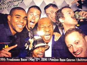 Tom Brady enjoying the 139th Preakness weekend with Mike Tyson. Photo From: Mike Tyson's Twitter