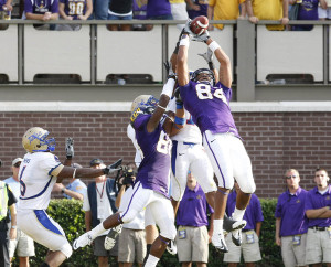 Justin Jones goes up and grabs the TD.