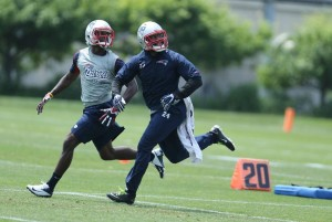 Kenbrell Thompkins making strides this mini-camp. Photo By: David Silverman
