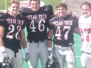 Mike Smith (Middle #46) and college roommate Wes Welker(Far right) Photo Courtesy of Mike Smith