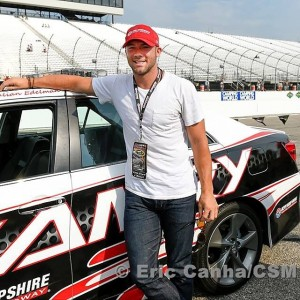 Julian Edelman was the honorary pace car driver at New Hampshire Speedway race today.  Photo From Patriots.com
