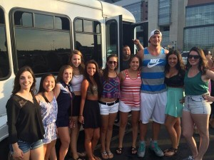 "Rob Gronkowski takes a photo with fans at the concert. Photo From Mary Brown's twitter @marybrown_22 Caption Read: ""Ayeee just took a pic with Gronk"""