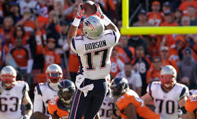 Aaron Dobson catches a pass against the Denver Broncos in the AFC Championship Game. (Photo from Patriots.com)