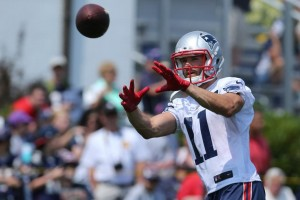 Julian Edelman is having a great camp. (Photo By David Silverman)