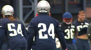 Darrelle Revis is having a great camp with the Patriots. (Photo From WBZ-TV)