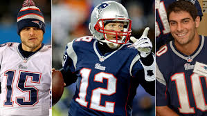 Ryan Mallett, Tom Brady, and Jimmy Garoppolo will play against the Eagles. (Photos By: Streeter Lecka/Jim Rogash/Darren McCollester/Getty Images)
