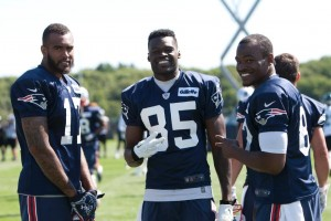 From Left to Right. Aaron Dobson, Kenbrell Thompkins, and Josh Boyce (Photo By Martin Morales)