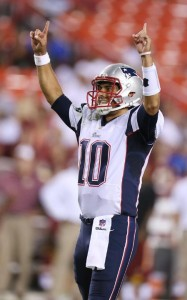 Jimmy Garoppolo had a great night, here's celebrating. (Photo By David Silverman)