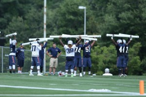Some Pats going through workouts (Photos By David Silverman)