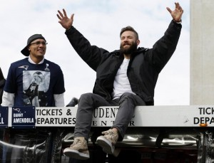 Julian Edelman had an awesome time. (Photo From Patriots.com)