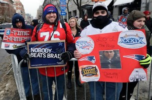 The fans had some great signs. (Photo From Patriots.com)