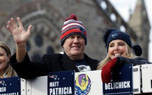 Belichick smiles during the parade. (Photo From Patriots.com)