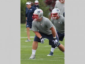 Nate Solder takes his stance. (Photo From Patriots.com)