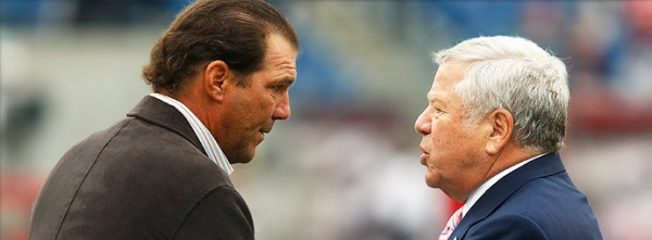 Steve Bisciotti and Robert Kraft.  (Photo From Ravens.com)