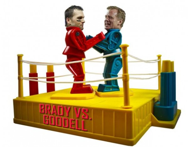 Brady Vs Goodell Continues. (photo from New York Daily News.)