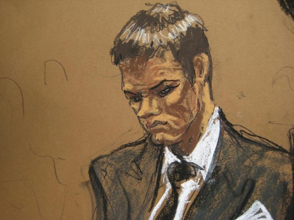 Tom Brady's sketch in court. (Photo Drew By: Jane Rosenberg / Reuters)