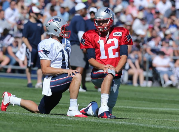 Edelman Vs Butler during camp. (Photo By David Silverman)