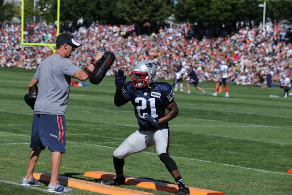 Malcolm Butler going through drills. (Photo By: David Silverman)