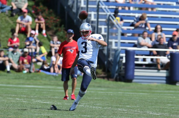 Kicker Stephen Gostkowski. (Photo By: David Silverman)