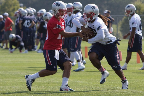 QB Jimmy Garoppolo takes all the reps in today's practice. (Photo By: Martin Morales)