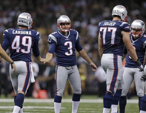 Stephen Gostkowski hits two field goals, one being the game winner last night. (Photo By: Brynn Anderson)