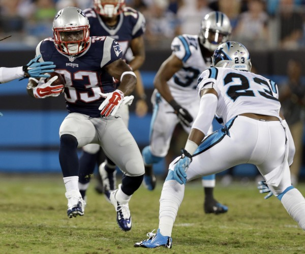 Dion Lewis makes waves in an attempt to make the team.  (AP Photo/Bob Leverone)