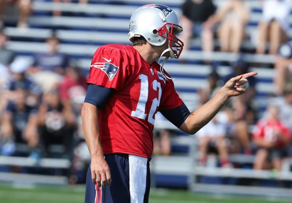 QB Tom Brady during day 12 of camp. (Photo By: David Silverman)