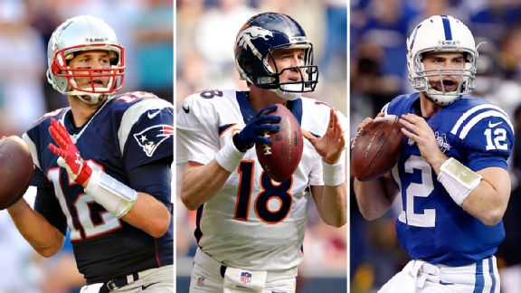Brady, Manning, and Luck. (Photo From USA Today Sports)