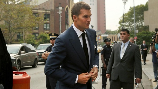 Tom Brady showing up to court today. (Photo From Sportingnews.com)